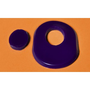 Oval Callus Cushion Pad - Purple Reusable Gel (pack of 2)