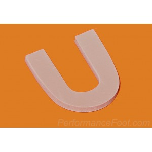 U Shaped Heel Pad - 1/4 inch Firm Foam